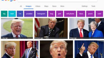 Wie 'idiot' googelt, krijgt hoop foto's van president Trump