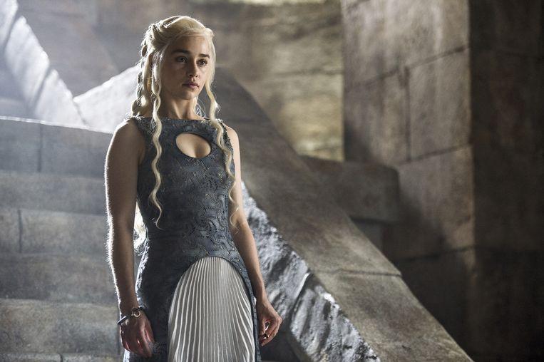 Emilia Clarke als Daenerys Targaryen in Game Of Thrones. Beeld HBO