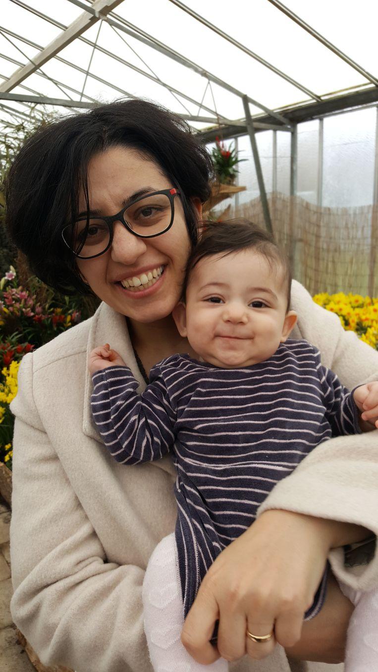 Mama Leila en dochtertje Sara.