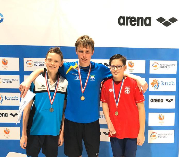 Parazwemmer Jesse Bruines van wedstrijdzwemvereniging Batavia Swim behaalde 5 medailles!