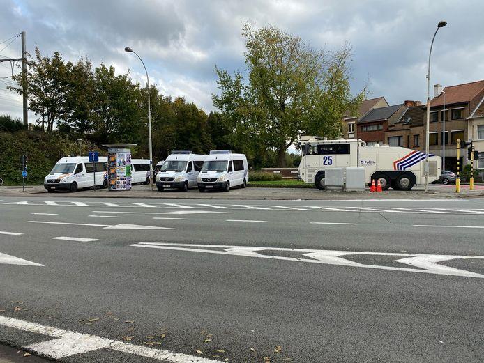 De Brugse politie is in opperste staat van paraatheid voor de komst van de PSG-fans