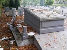 Aanhouding na vernieling grafmonument Hoevelaken