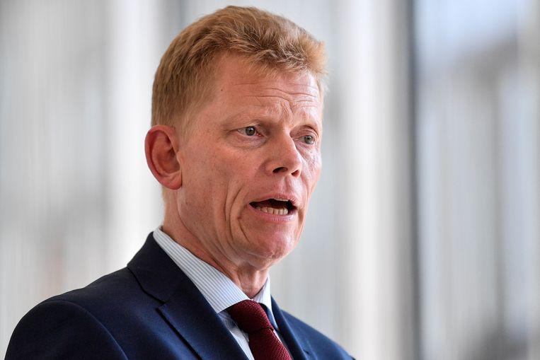 CEO Guido Kerkhoff vanThyssenkrupp in mei van dit jaar.