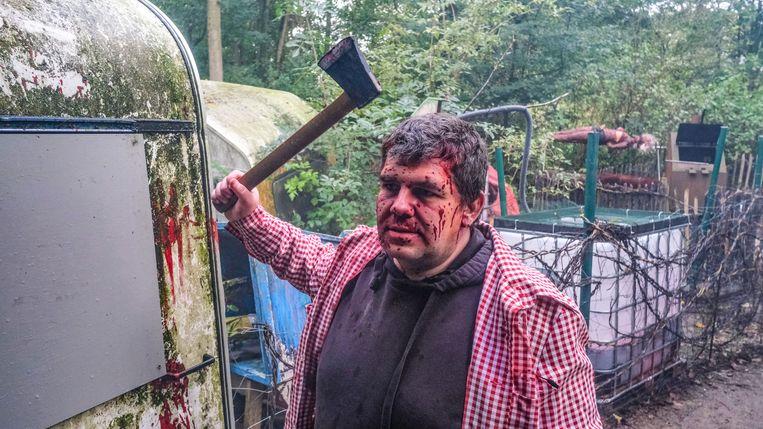 Camping Corpse is een van de vijf spookhuizen.