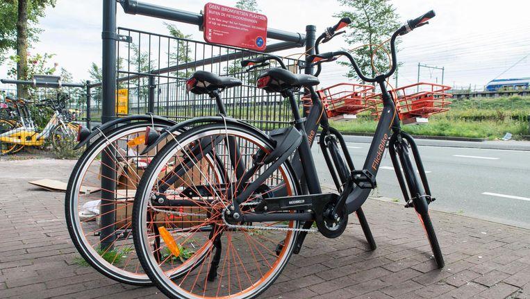Deelfietsen van Flickbike. Beeld Charlotte Odijk