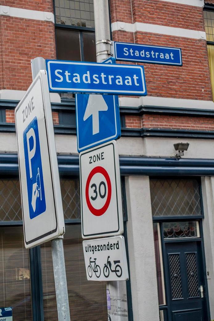 Stadsstraat dubbelop. Foto Jan van Eijndhoven
