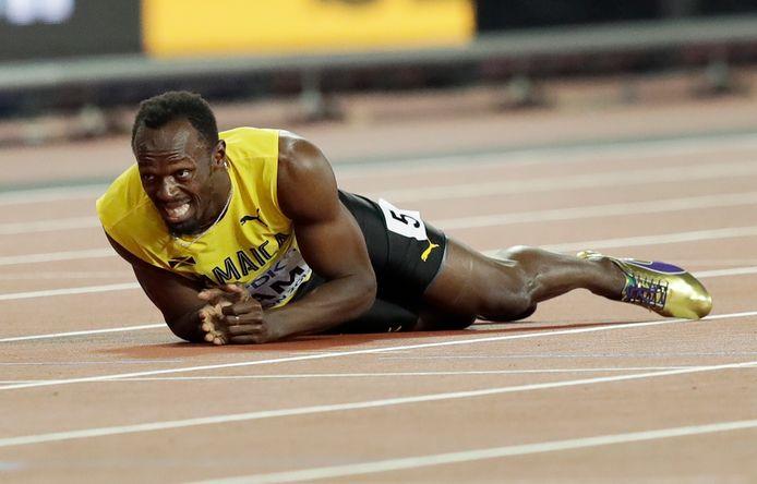A Londres, pour la dernière compétition de sa carrière, Usain Bolt a mordu la poussière.