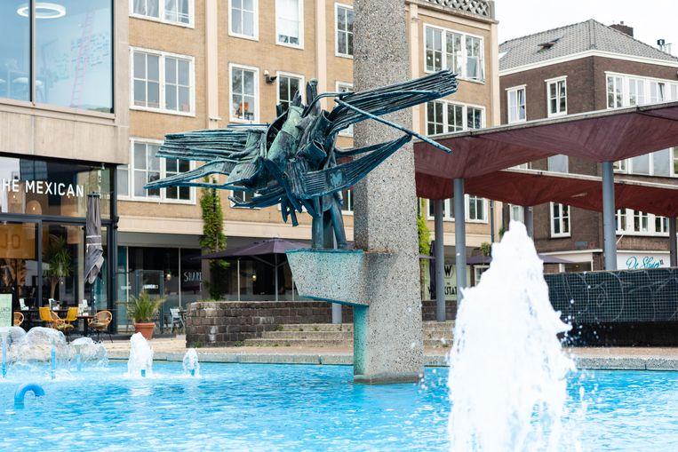 Gele Rijders Plein, Arnhem, AKU fontein  Beeld Katja Poelwijk