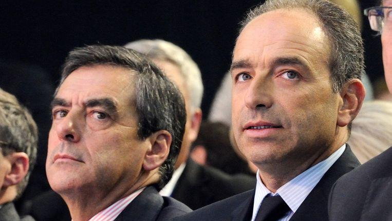 Francois Fillon (links) en Jean-Francois Copé. Beeld afp