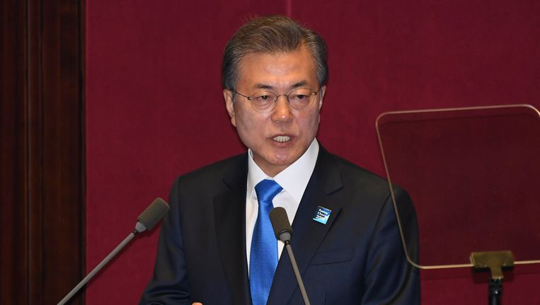 De Zuid-Koreaanse president Moon Jae-in