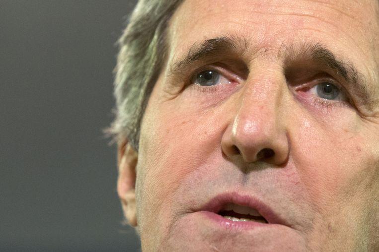 De Amerikaanse minister van buitenlandse zaken John Kerry. Beeld ap