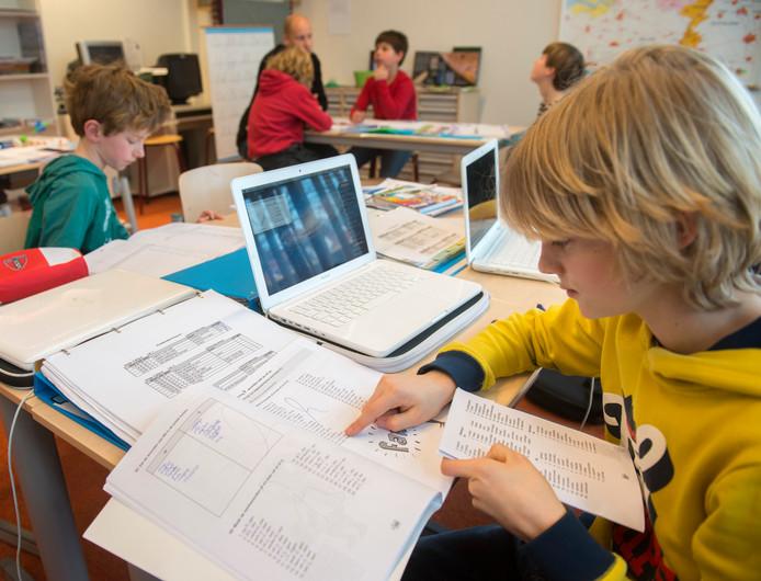 Op het Leonardo wordt hoogbegaafde leerlingen uitgedaagd verder te leren.