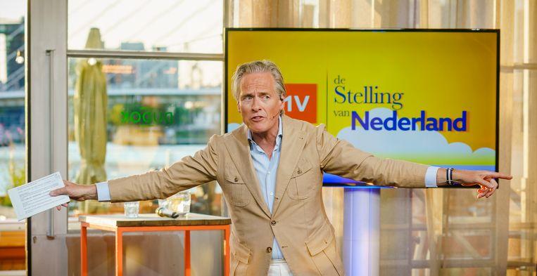 Jort Kelder tijdens het racismedebat op NPO 1. Beeld Hollandse Hoogte /  ANP