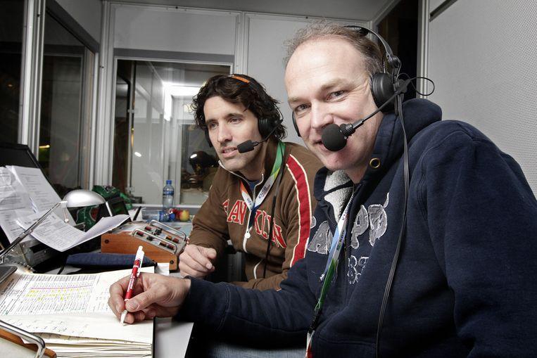 Analist Martin Hersman (L) en verslaggever Herbert Dijkstra (R Beeld ANP