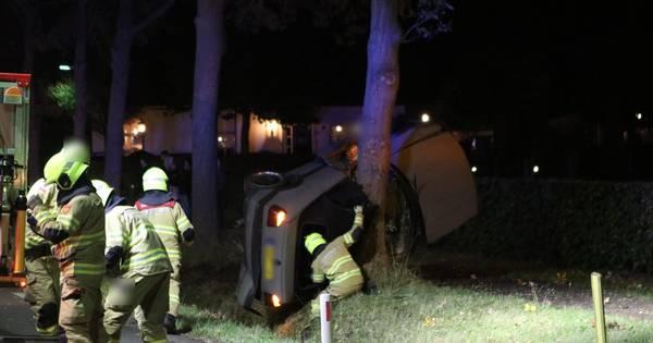 Twee zwaargewonden bij ernstig ongeval in Nijkerk.