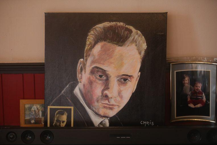 Chris is ook kunstschilder. In zijn woning hangen heel wat schilderijen van zijn hand.