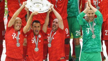 Afscheidnemende monumenten bezorgen Bayern München landstitel na galavoorstelling tegen Eintracht Frankfurt