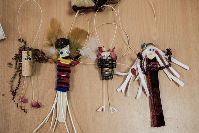 De figuurtjes die zijn gemaakt voor de korte video.