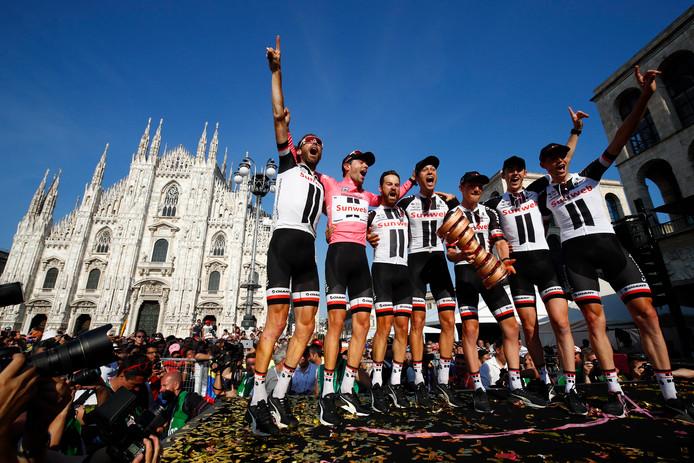 Feest in Milaan bij Team Sunweb.