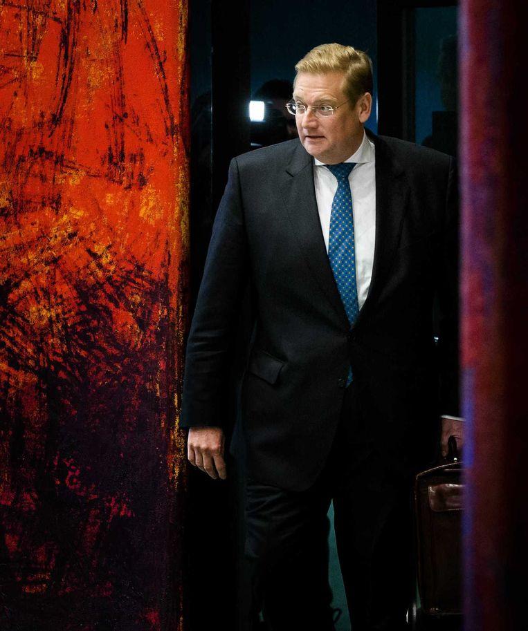 Minister Van der Steur in de Tweede Kamer. Beeld anp