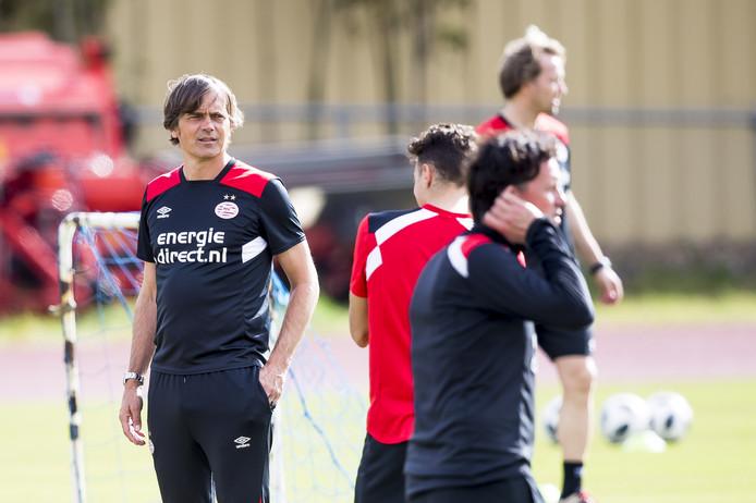PSV trainer Philip Cocu tijdens het trainingskamp van PSV in Florida. ANP JOEP LEENEN
