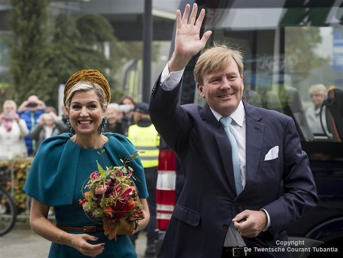 Koningin Máxima (links) en Koning Willem-Alexander