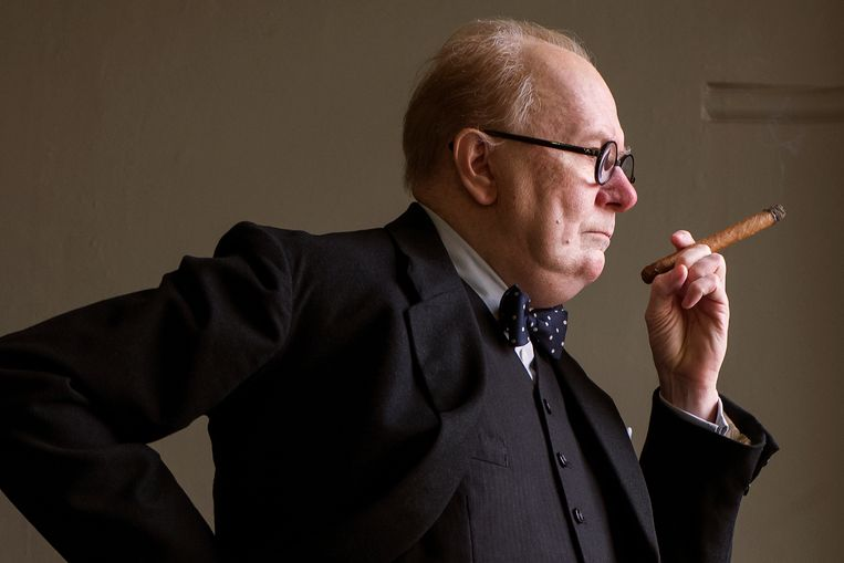 Gary Oldman als Winston Churchill in 'Darkest Hour'.