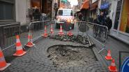 Opnieuw zinkgat in centrum: ditmaal in Parijsstraat