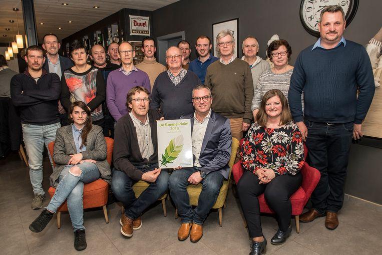 OptimaT mocht de Groene Pluim in ontvangst nemen.