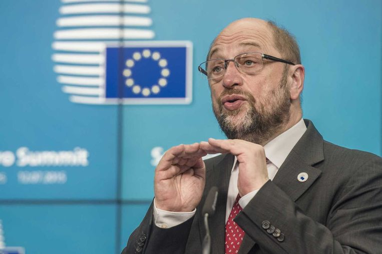 Voorzitter Martin Schulz van het Europees Parlement. Beeld anp