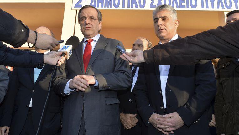 De Griekse premier Antonis Samaras. Beeld ap