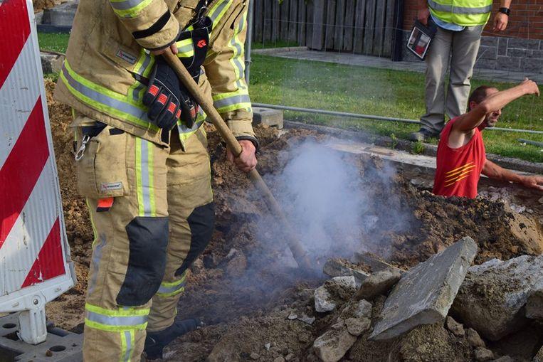 Fosforbom gevonden tijdens nutswerkzaamheden in Menen