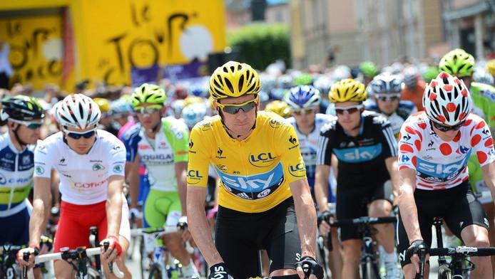 Bradley Wiggins en jaune