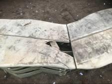 Afval, vuurwerkresten en kapotte bank in week oude Levensbomenbos in Uden