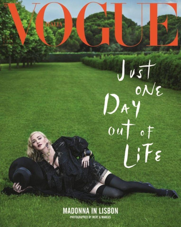 Madonna op de cover van de Italiaanse Vogue. Beeld Vogue