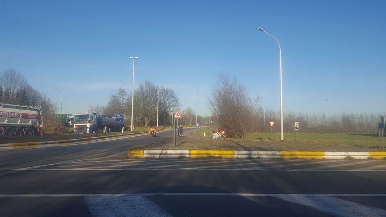 Afrit Destelbergen is afgesloten.