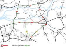 A59 dit weekend dicht tussen Waalwijk en Empel vanwege werkzaamheden