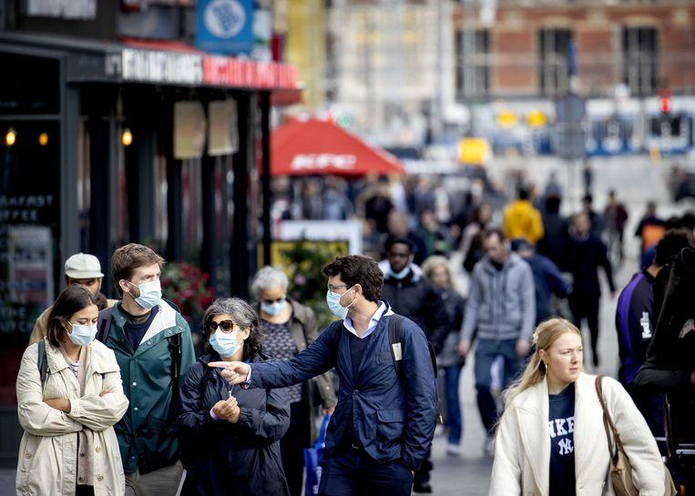 Er geldt een advies voor het winkelend publiek om een mondkapje te dragen Beeld ANP