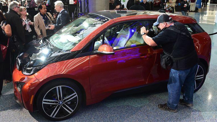 De BMW i3, eind vorig jaar in Los Angelos uitgeroepen tot Green Car of the Year. Beeld AFP