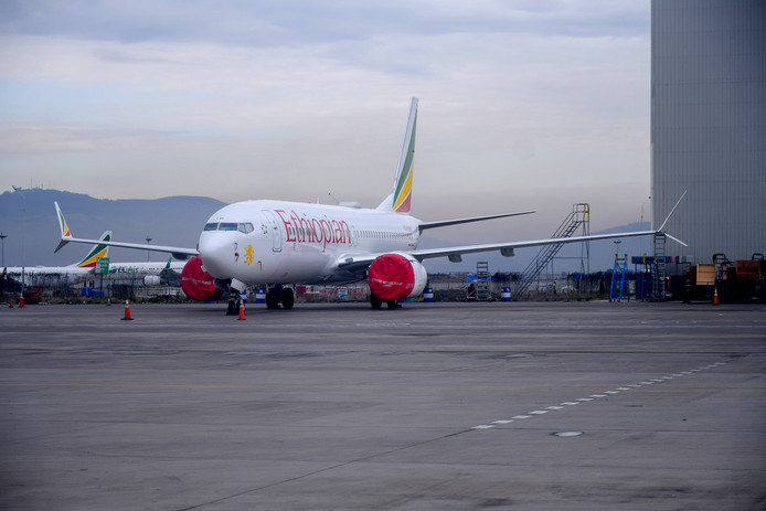 Een Boeing 737 Max van Ethiopian Airlines