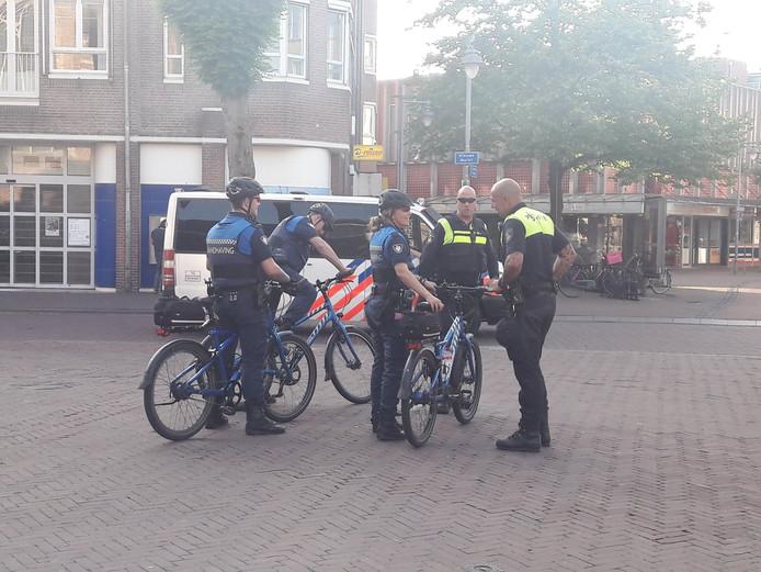 In het centrum van Gouda was veel politie op de been.