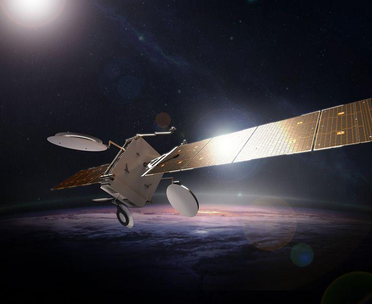 Een variant van het type satelliet dat nu op ontploffen staat.