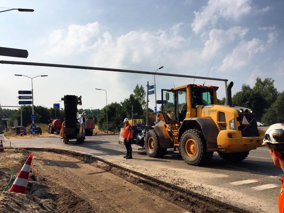 De werkzaamgheden bij knooppunt Vught lopen uit tot 16 augustus.