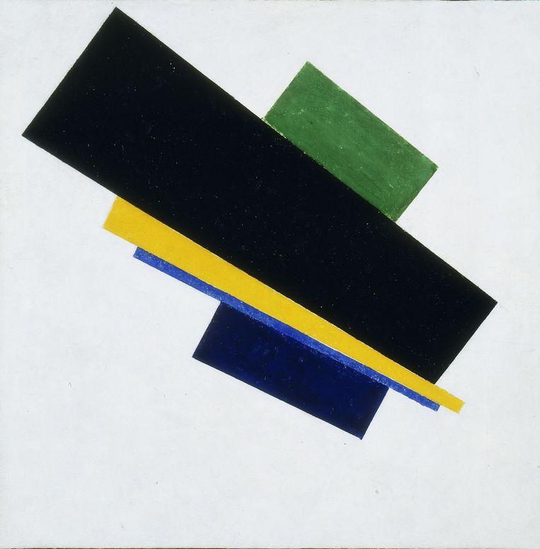 Het bij Sotheby's geveilde schilderij van Kazimir Malevich. Beeld .