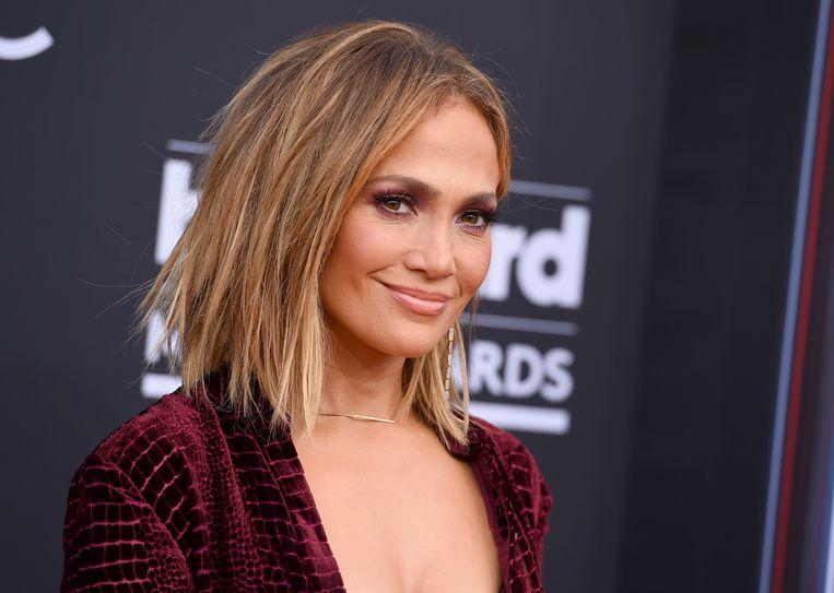 Jennifer Lopez op de Billboard Music Awards in mei 2018 in Las Vegas.