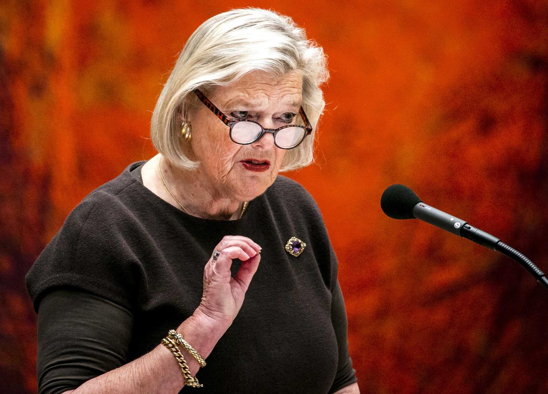 Ankie Broekers-Knol, staatssecretaris van justitie en veiligheid, in de Tweede Kamer.