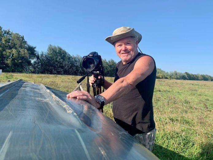 Erik van der Zeijden uit Asperen is vaak in de Biesbosch te vinden, zoekend naar de 'vliegende deur', tegenwoordig ook met een nieuwe kano.