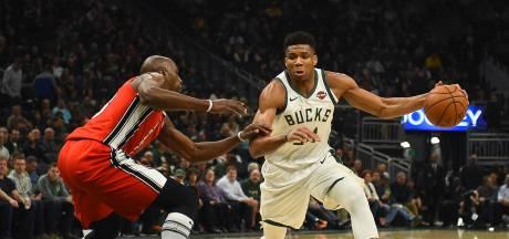 Antetokounmpo leidt Bucks naar koppositie in NBA