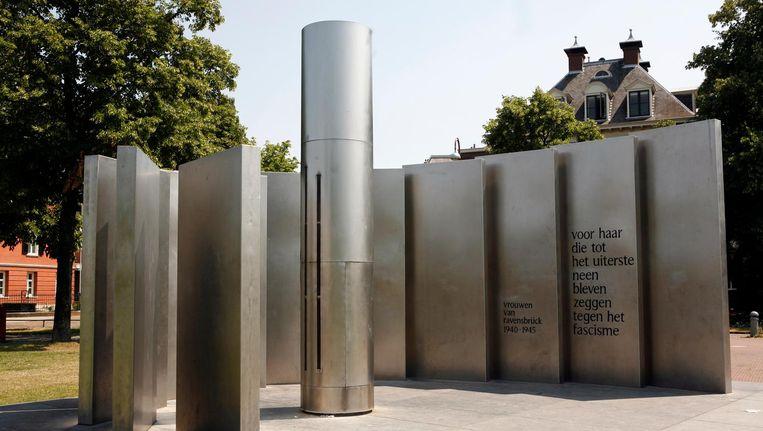Het monument van de vrouwen van Ravensbruck op het Museumplein. Beeld anp