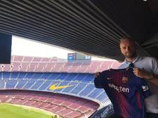 Oldham-speler houdt Twitteraars voor de gek met Barça-shirt